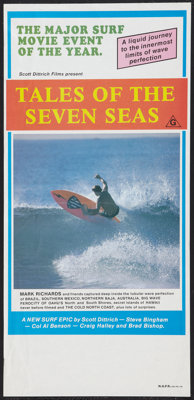 "Tales of the Seven Seas (Scott Dittrich Films, 1981). Australian Daybill (13"" X 28""). Documentary"