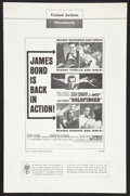"Movie Posters:James Bond, Goldfinger & Others Lot (United Artists, 1964). UncutPressbooks (3) (Multiple Pages, 11"" X 17"" & 13.25"" X 18"").James Bond.... (Total: 3 Items)"