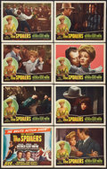 "Movie Posters:Western, The Spoilers (Realart, R-1947). Lobby Card Set of 8 (11"" X 14""). Western.. ... (Total: 8 Items)"