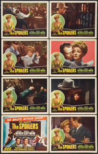 """The Spoilers (Realart, R-1947). Lobby Card Set of 8 (11"""" X 14""""). Western. ... (Total: 8 Items)"""