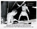 Boxing Collectibles:Autographs, Jake LaMotta Signed And Inscribed Oversized Photograph. ...