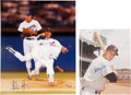 Autographs:Photos, Nolan Ryan And Carl Yastrzemski Oversized Signed Photographs Lot Of2.. ...