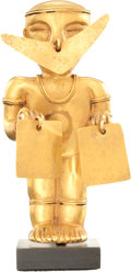Antiques:Antiquities, Quimbaya Standing Gold Figure...