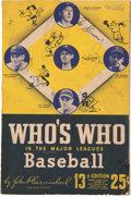 "Baseball Collectibles:Others, 1944 Baseball Stars ""Who's Who in the Major Leagues Baseball"" MultiSigned Book...."