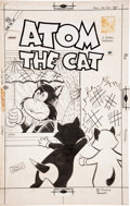Original Comic Art:Covers, Pat Masulli and Jon D'Agostino Atom the Cat #14 CoverOriginal Art (Charlton, 1958)....
