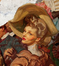 Paintings, DEAN CORNWELL (American, 1892-1960). Study of a Lady. Oil on board. 10 x 9.5 in.. Not signed. ...
