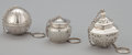 Silver Smalls:Other , A GROUP OF THREE AMERICAN SILVER TEA BALLS . Gorham ManufacturingCo., Providence, Rhode Island, circa 1920-25. Marks to all...(Total: 3 Items)