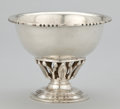 Silver & Vertu:Hollowware, A MEXICAN SILVER FOOTED BOWL WITH PIERCED BASE . Sanborn Hnos S.A., Mexico City, Mexico, circa 1950. Marks: SANBORNS, MEXI...
