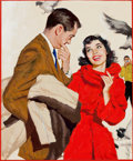 Mainstream Illustration, JIM SCHAEFFING (American, 20th Century). She Had Suddenly Lookedat His Face and Seen Him as Someone Different...Someone S...