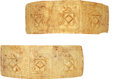 Antiques:Antiquities, A Pair of Highly Decorative Gold Bracelets... (Total: 2 Items)