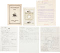 Baseball Collectibles:Others, Moe Berg Original Documents Pertaining to the War, 1934 Tour of Japan etc....