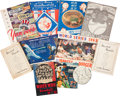 Baseball Collectibles:Others, Major League Baseball Vintage Publications Lot, With Various SignedCards etc....