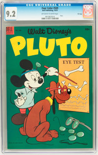 Four Color #509 Pluto - File Copy (Dell, 1953) CGC NM- 9.2 Off-white to white pages