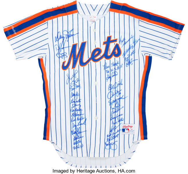 310b31a25df 1986 New York Mets Team Signed Jersey (34 Signatures). ... Baseball ...