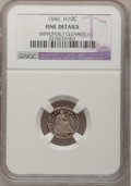1846 H10C --Improperly Cleaned--NGC Details. Fine. NGC Census: (1/29). PCGS Population (3/45). Mintage: 27,000. Numismed...