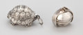 Silver Smalls:Other , TWO AMERICAN SILVER PENDANTS . Maker unknown, American, circa 1970.Both Marked: 925. 0-3/4 x 1-3/8 x 1-1/8 inches (1.9 ...(Total: 2 Items)