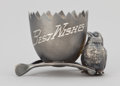 Silver Smalls:Other , AN AMERICAN SILVER PLATED FIGURAL EGG CUP . Wm. A. Rogers Ltd.,Niagara Falls, New York, circa 1890. Marks: WR,QUADRUPLE,...