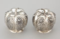 Silver Smalls:Other , TWO PAIRS OF MEXICAN SILVER SALT & PEPPER SHAKERS . Makerunidentified, Mexico, circa 1950. Marks of shakers notillustrated... (Total: 4 Items)