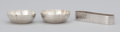 Silver Smalls:Other , A PAIR OF AMERICAN SILVER NUT BOWLS AND NAPKIN RING . The KaloShop, Chicago, Illinois, circa 1910. Marks: KALO, STERLING,...(Total: 3 Items)