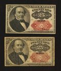 Fractional Currency:Fifth Issue, Two Fr. 1309 25¢ Fifth Issue Notes.. ... (Total: 2 notes)