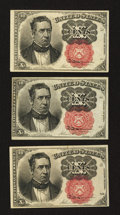 Fractional Currency:Fifth Issue, Fr. 1265 and two 1266's 10¢ Fifth Issue Notes Choice About New..... (Total: 3 notes)
