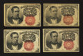 Fractional Currency:Fifth Issue, Four Fr. 1266 10¢ Fifth Issue Notes.. ... (Total: 4 notes)
