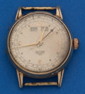 Timepieces:Wristwatch, Heuer Vintage Gold Calendar Wristwatch. ...