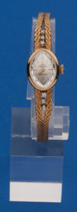 Timepieces:Wristwatch, Jules Jurgensen Ladies 18k Gold Wristwatch, Gold Band. ...