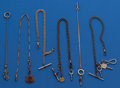 Timepieces:Watch Chains & Fobs, A Lot of Six Antique Watch Chains. ... (Total: 6 Items)