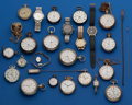 Timepieces:Pocket (post 1900), Box of 24 Miscellaneous Pocket Watches & Wristwatches for Restoration. ... (Total: 24 Items)