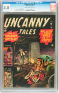 Golden Age (1938-1955):Horror, Uncanny Tales #1 (Atlas, 1952) CGC VG 4.0 Cream to off-whitepages....
