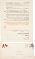 Baseball Collectibles:Others, 1934 Eugene Moore Player's Contract Signed by Branch Rickey....