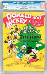 Donald and Mickey Merry Christmas 1945 (K. K. Publications, Inc., 1945) CGC VF+ 8.5 Off-white pages