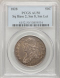 Bust Half Dollars: , 1828 50C Square Base 2, Small 8, Small Letters AU50 PCGS, O-119,R.3. PCGS Population (3/26). (#6152)...