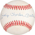 "Baseball Collectibles:Balls, Mickey ""Charles"" Mantle Single Signed Baseball...."