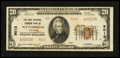 National Bank Notes:Virginia, Wytheville, VA - $20 1929 Ty. 2 The First National Farmers Bank Ch.# 9012. ...