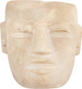 Antiques:Antiquities, An Alabaster Teotihuacan Mask...