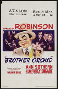 """Movie Posters:Crime, Brother Orchid (Warner Brothers, 1940). Window Card (14"""" X 22"""").Crime. Starring Edward G. Robinson, Humphrey Bogart and Ann..."""