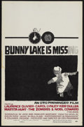 "Movie Posters:Mystery, Bunny Lake is Missing (Columbia, 1965). Window Card (14"" X 22"").Mystery. Starring Laurence Olivier, Carol Lynley, Keir Dull..."