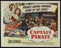 "Movie Posters:Adventure, Captain Pirate (Columbia, 1952). Half Sheet (22"" X 28""). Adventure.Starring Louis Hayward, Patricia Medina and John Sutton...."