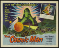 "Movie Posters:Science Fiction, The Cosmic Man (Allied Artists, 1959). Half Sheet (22"" X 28"").Science Fiction. Starring Bruce Bennett, John Carradine, Ange..."