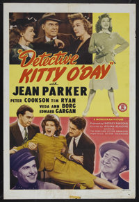 "Detective Kitty O'Day (Monogram, 1944). One Sheet (27"" X 41""). Mystery. Starring Jean Parker, Peter Cookson, T..."