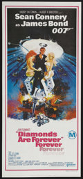 "Movie Posters:James Bond, Diamonds Are Forever (United Artists, 1971). Australian Daybill (13"" X 30""). James Bond Action. Starring Sean Connery, Jill ..."