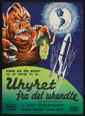 "Movie Posters:Science Fiction, It! The Terror From Beyond Space (United Artists, 1958). DanishPoster (24"" X 33""). Sci-Fi Horror. Starring Marshall Thompso..."