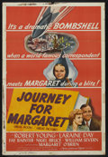 "Movie Posters:War, Journey for Margaret (MGM, 1942). One Sheet (27"" X 41"") Style D.War. Starring Margaret O'Brien, Robert Young, Laraine Day, ..."