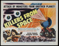 "Movie Posters:Science Fiction, Killers From Space (RKO, 1954). Half Sheet (22"" X 28"") Style B.Sci-Fi Horror. Starring Peter Graves, Barbara Bestar, James ..."