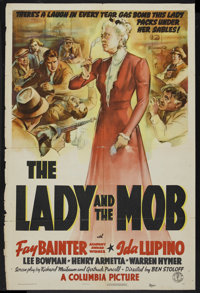 """The Lady and the Mob (Columbia, 1939). One Sheet (27"""" X 41""""). Comedy. Starring Fay Bainter, Ida Lupino, Lee Bo..."""
