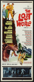 "Movie Posters:Science Fiction, The Lost World (20th Century Fox, 1960). Insert (14"" X 36""). Sci-FiAdventure. Starring Michael Rennie, Jill St. John, David..."