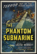 "Movie Posters:Adventure, The Phantom Submarine (Columbia, 1940). One Sheet (27"" X 41"").Adventure. Starring Anita Louise, Bruce Bennett, Oscar O'Shea..."