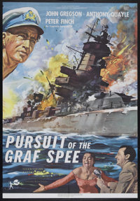 "Pursuit of the Graf Spee (Rank, 1956). One Sheet (27"" X 41""). The story of the first great naval battle of WWI..."